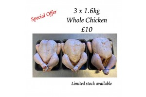 BUY 3 x Whole Chickens £10 AND GET 4th FREE