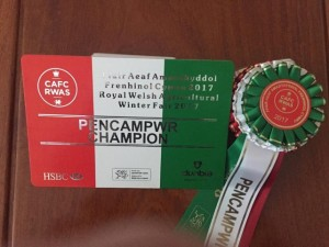 Overall Supreme Champion Of Meat Hampers at The Royal Welsh Winter Fair