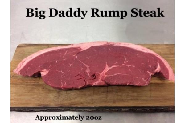 Big Daddy Rump Steak (Approximately 20oz)