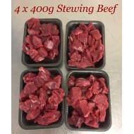 4 x 400g Stewing Beef