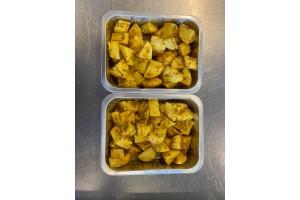 2 x Trays of Golden Garlic Potatoes