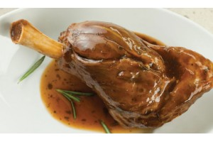 Slow Cooked Minted glazed Lamb Shank