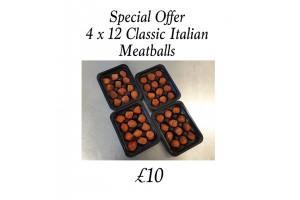 Special Offer 4 x 12 x Classic Pork Meatball in a Sweet Italian Glaze